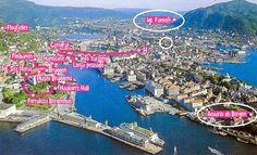 Bergen Fanftoft Fiordos Noruegos Noruega por libre viaje en pareja