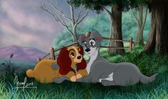 THE LADY AND THE TRAMP by FERNL.deviantart.com on @DeviantArt
