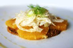 Venkel-sinaasappelsalade met pistachedressing in het artikel Siciliaans kerstmenu. Stek 12, 2013