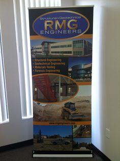 Retractable banner using customer's pictures