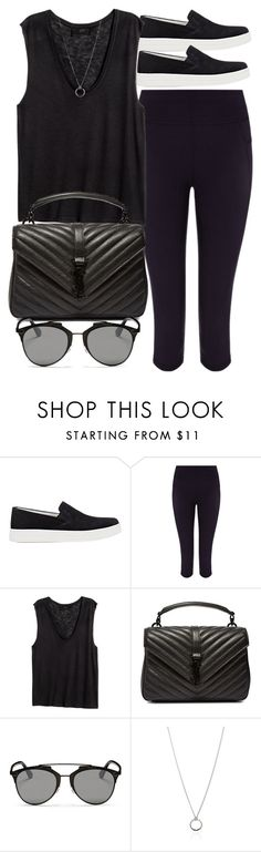 """""""Style  #10724"""" by vany-alvarado ❤ liked on Polyvore featuring Prada Sport, Sweaty Betty, H&M, Yves Saint Laurent, Christian Dior and FOSSIL"""