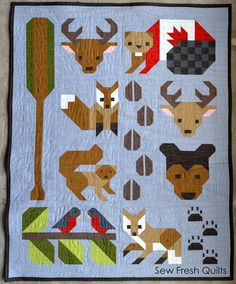 Introducing Sew Fresh Quilts new pattern – Forest Friends! I am so excited to have completed both the Twin and Baby size versions of the. Quilt Baby, Baby Quilt Patterns, Modern Quilt Patterns, Boy Quilts, Quilting Projects, Quilting Designs, Quilting Tips, Canadian Quilts, Elizabeth Hartman Quilts