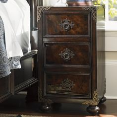 Found it at Wayfair - Island Traditions 3 Drawer Nightstand