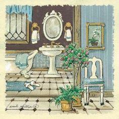 Antique Bath I Canvas Art - Anita Phillips (24 x 24)