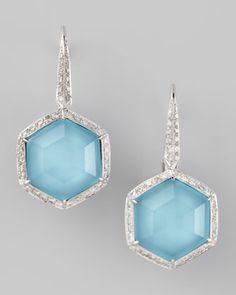 Pave Diamond Art Deco Drop Earrings by Stephen Webster