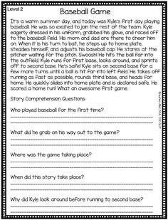 No Prep Auditory Comprehension Stories - Level 2 difficulty - Frieda Free Reading Comprehension Worksheets, First Grade Reading Comprehension, Literacy Worksheets, Third Grade Reading, Comprehension Questions, Reading Skills, Teaching Reading, Learning, Reading Passages