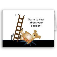 Ladder Bear Falling Down Greeting Cards