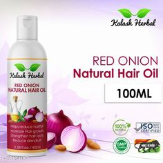 Hair Oil Natural Onion Herbal oil pack of 1 (100ml) Product Name: Natural Onion Herbal oil pack of 1 (100ml) Brand Name: Kalash Herbal Multipack: 1 Flavour: Onion Country of Origin: India Sizes Available: Free Size   Catalog Rating: ★4.4 (718)  Catalog Name: Kalash Herbal Sensational Restore Herbal Oil CatalogID_2557246 C166-SC2033 Code: 671-13104187-994