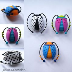 Beetle Brooches