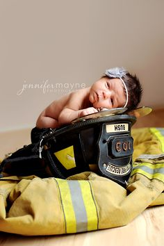 www.jennifermaynephotography.com » Austin Newborn photography fireman suit and hat