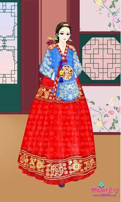 Korean Traditional, Traditional Outfits, Korean Hanbok, Korean Beauty, Asian Art, Chibi, Fantasy Art, Disney Princess, Womens Fashion