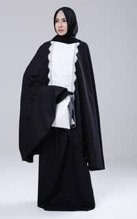 Mukena Mukaga Kartini-Black-White