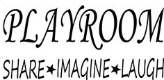 Wall Decal Quote Playroom Share Imagine Laugh Kids Room Children Parenting Toys Vinyl Sticker Home Decor * You can get more details by clicking on the image. (This is an affiliate link) #DIYHomeDecorAccents