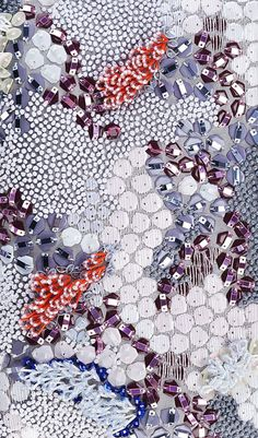 Embroidery Techniques Fabric Manipulation Haute Couture Ideas For 2019 Couture Embroidery, Embroidery Fashion, Embroidery Applique, Beaded Embroidery, Embroidery Patterns, Textiles Techniques, Embroidery Techniques, Fabric Manipulation Techniques, Textile Texture