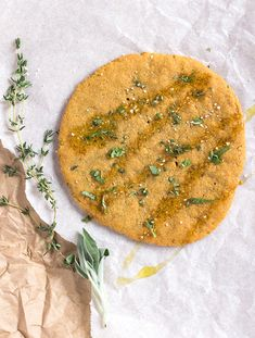 Easiest Gluten-Free Flatbread just 4 ingredients. (vegan, paleo & egg free too)