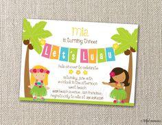 hawaiian party invite
