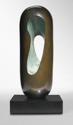 BARBARA HEPWORTH 1903 - 1975 MAKUTU Inscribed with the signature Barbara Hepworth, dated 1969 CAST 1970, numbered 1/9 and inscribed with the foundry marks Morris Singer FOUNDERS  LONDON Bronze Height with base: 29 3/4 in. Conceived in 1969 and cast in 1970.