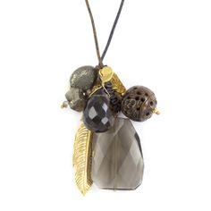 Smokey Mix Layering Charm Necklace - Chan Luu