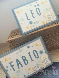 Geburtstagskarte Kinder personalisiert Alphabet Buchstaben Stampin Up