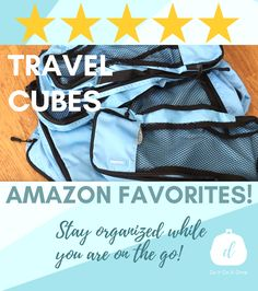 Stay organized while you are on the go! Travel Cubes, Travel Organization, Staying Organized, Travel Packing, To Go, Amazon, Places, Quotes, Style