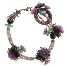 Tutorial - How to: Midnight Garden Bracelet | Beadaholique