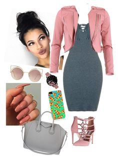 """"" by arikaijones on Polyvore featuring Topshop, FRACOMINA, Steve Madden, Olivia Burton, MANGO, The Small Print. and Givenchy"