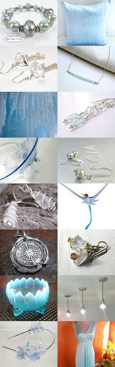 Ice,Iced Baby by Donna Arena on Etsy #jewelryonetsy #iceblue #December --Pinned with TreasuryPin.com