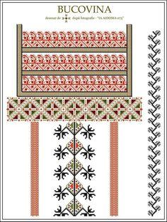 Semne cusute Cross Stitch Borders, Simple Cross Stitch, Cross Stitching, Cross Stitch Patterns, Embroidery Online, Embroidery Neck Designs, Embroidery Motifs, Palestinian Embroidery, Irish Crochet