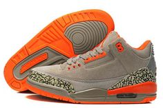 promo code 125b9 f59de Air Jordan III Basketball Women Shoes - Grey Orange Cement Jordan 4, Jordan