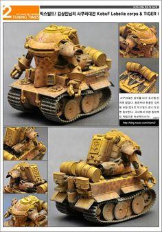 KobuF Lobelia corps & TIGER-I (Metal slug version) Tank Warfare, Toy Tanks, Warhammer Figures, Apocalypse Art, Fantasy Model, Mechanical Design, Art Model, Sci Fi Art, Conceptual Art