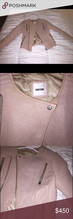 3e35b194e44 Anine Bing Nude authentic leather jacket XS NWT Great for the spring! Throw  on over a white babydoll dress and wedges!