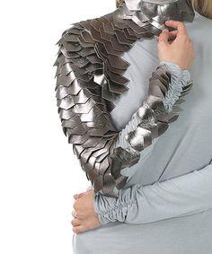 CQbyCQ Gray & Silver Metallic-Scale Turtle Neck Top | zulily
