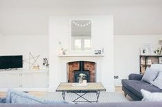 A grey tranquil living room make-over