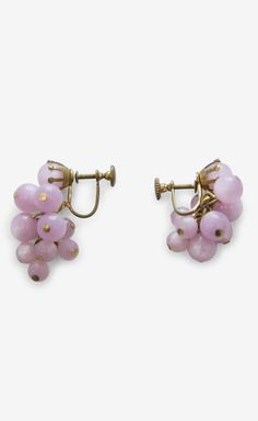 Orchid And Gold Earrings