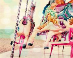 Vintage Carousel - we're daydreaming of summer sun by the sea... (summer sun photography)
