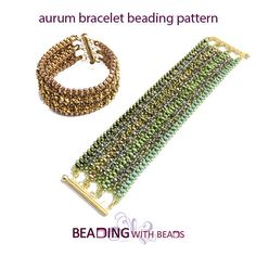 Bracelet beading pattern for the aurum  bracelet di beadingwithbeads su Etsy https://www.etsy.com/it/listing/270083032/bracelet-beading-pattern-for-the-aurum