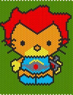 Lion O Hello Kitty From Thundercats bead pattern