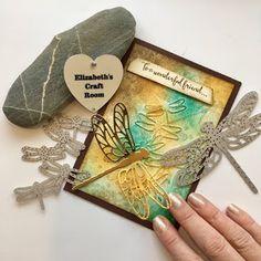 elizabeth's craft room: VIDEO Dragonfly Dreams Collage Card