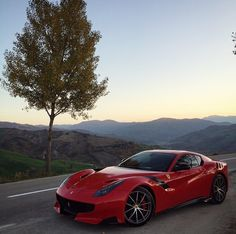 Ferrari F12 TDF painted in Rosso Corsa  Photo taken by: @chrischiltoncar on Instagram