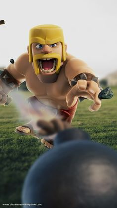 barbar Coc Clash Of Clans, Clash Of Clans Game, Dessin Clash Of Clans, The Sims, Clsh Of Clans, Royal Clan, Deck Pictures, Decks And Porches, Barbarian