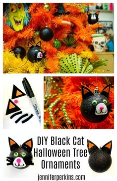 Black Cat Ornament D