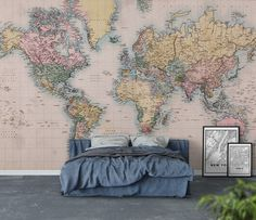 Detailed silver grey world map feature wall wallpaper mural 315cm silver grey world map feature wall wallpaper mural cm x cm gumiabroncs Images