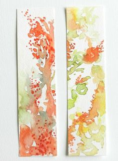 Grow Creative. water color bookmarks
