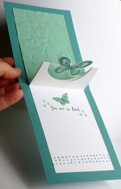 Wonderful Wings Half Circle Pop Up card - Inside