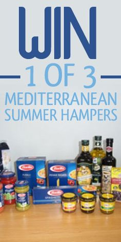 #RePin and #Win 1 of 3 Mediterranean Summer Hampers! #competition #food