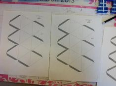 Step 1: print the kaleidocycle template onto white card stock. You need two copies: Part one and Part two.