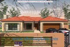 Overall Dimensions- x mBathrooms- 3 Car GarageArea- Square meters Round House Plans, Free House Plans, House Plans With Photos, House Layout Plans, House Layouts, 4 Bedroom House Designs, 4 Bedroom House Plans, Single Storey House Plans, House Roof Design