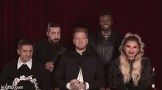 A Pentatonix Christmas Special - Bloopers! Pentatonix Avi, Scott And Mitch, Scott Hoying, Mitch Grassi, All About That Bass, Daft Punk, Funny Facts, Animated Gif, Famous People