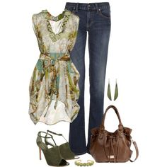 Green & Brown by kp802 on Polyvore