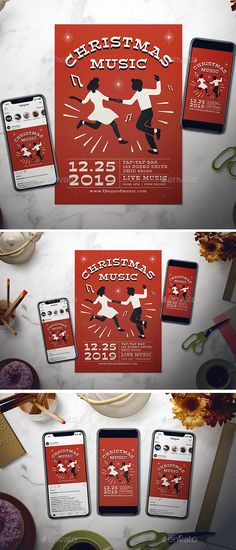 Buy Christmas Music Flyer Set by dannyaldana on GraphicRiver. Easy to customize with a well-organize file, it helps you design the flyer in a short time! Boxing Day, Winter Poster, Creative Design, Your Design, Christmas Flyer Template, Music Flyer, File Organization, Instagram Story, Instagram Posts